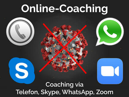 Online-Coaching via Telefon, Skype, WhatsApp, Zoom