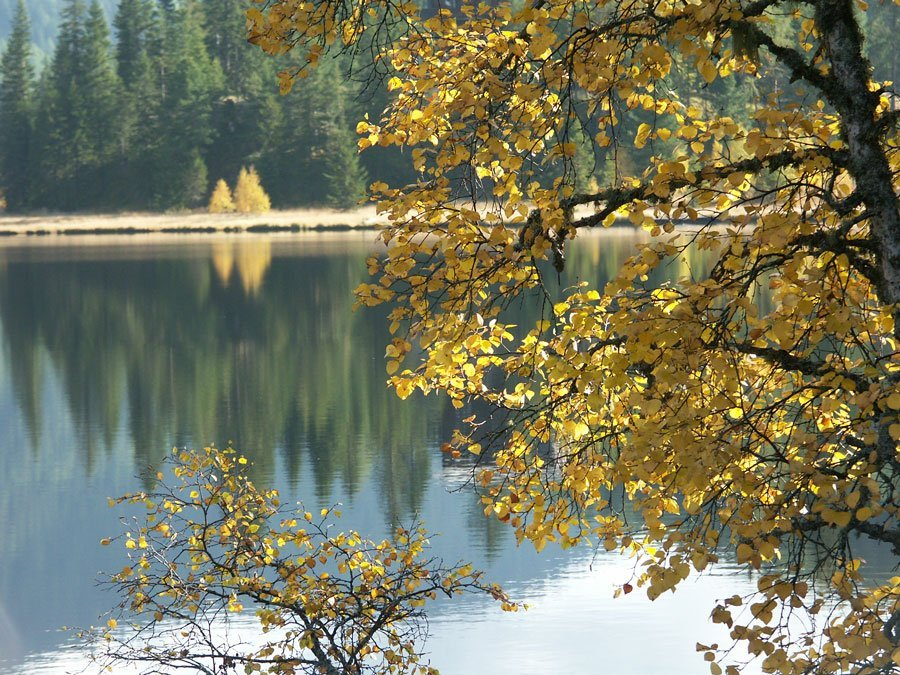 Outdoor Coaching Herbst Stille See