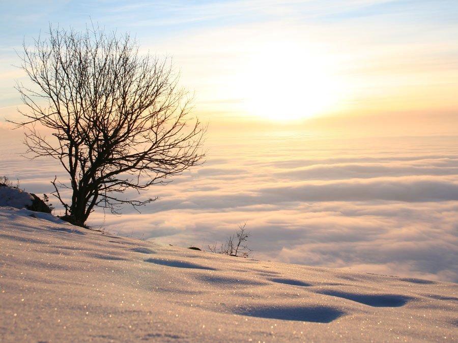 Outdoor Coaching Winter Sonnenaufgang