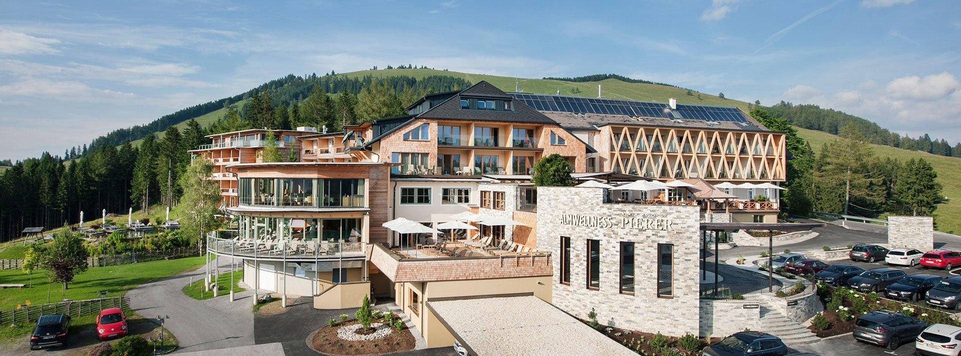 Almwellness Pierer Hausansicht Teichalm Steiermark